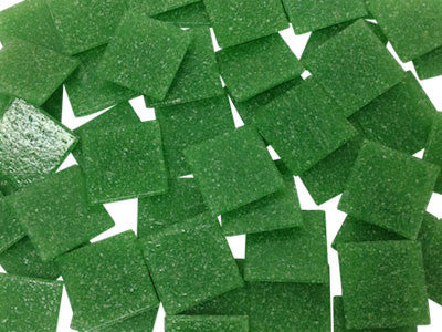 Vibrant Green 2cm Venetian Glass Mosaic Tiles