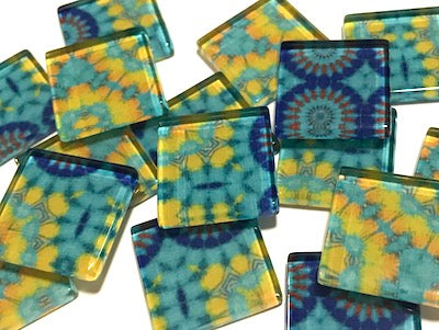 Vintage Gypsy 2.5cm Glass Tiles - Pattern 12 (HM)