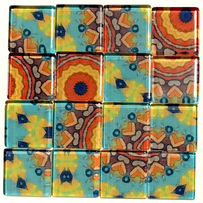 Vintage Gypsy 2.5cm Glass Tiles - Pattern 1 (HM)