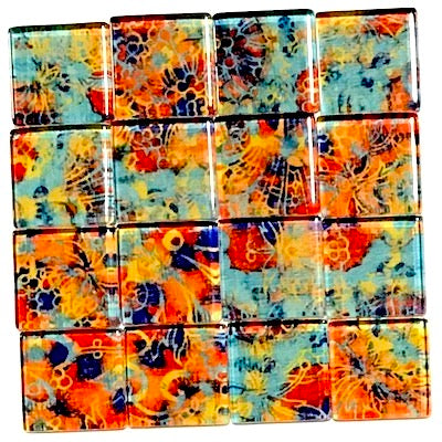 Vintage Gypsy 2.5cm Glass Tiles - Pattern 3 (HM)
