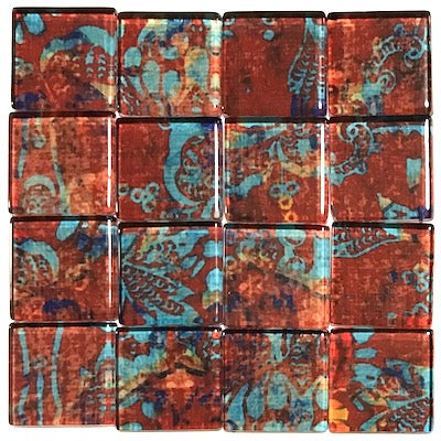 Vintage Gypsy 2.5cm Glass Tiles - Pattern 4 (HM)
