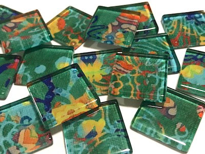 Vintage Gypsy 2.5cm Glass Tiles - Pattern 6 (HM)