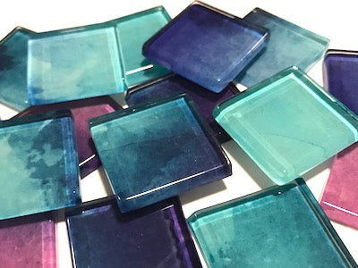 Watercolour Glass Mosaic Tiles 2.5cm - No. 30 (HM)