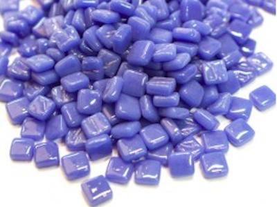 Warm blue 8mm glass tiles