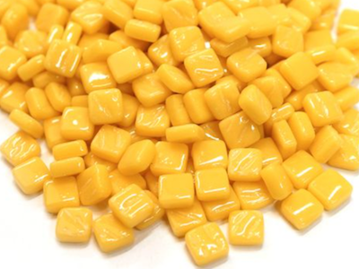 Warm Yellow 8mm Glass Tiles (G836)