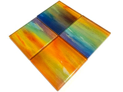 Watercolour Glass Mosaic Tiles 5cm - No. 11 (HM)
