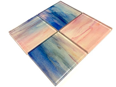 Watercolour Glass Mosaic Tiles 5cm - No. 15 (HM)