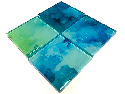 Watercolour Glass Mosaic Tiles 5cm - No. 18 (HM)