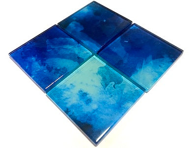 Watercolour Glass Mosaic Tiles 5cm - No. 20 (HM)