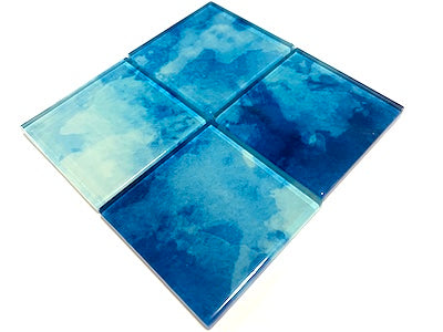 Watercolour Glass Mosaic Tiles 5cm - No. 28 (HM)
