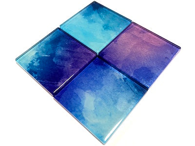 Watercolour Glass Mosaic Tiles 5cm - No. 30 (HM)