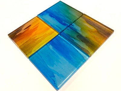 Watercolour Glass Mosaic Tiles 5cm - No. 3 (HM)