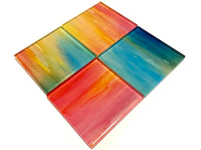 Watercolour Glass Mosaic Tiles 5cm - No. 4 (HM)