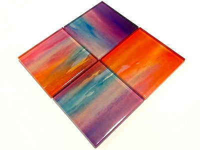 Watercolour Glass Mosaic Tiles 5cm - No. 5 (HM)
