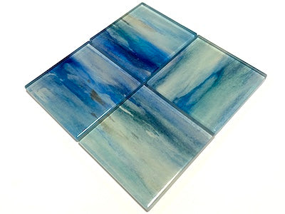 Watercolour Glass Mosaic Tiles 5cm - No. 6 (HM)