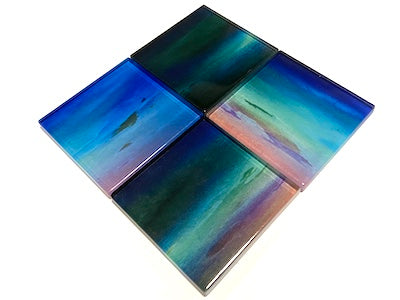 Watercolour Glass Mosaic Tiles 5cm - No. 7 (HM)