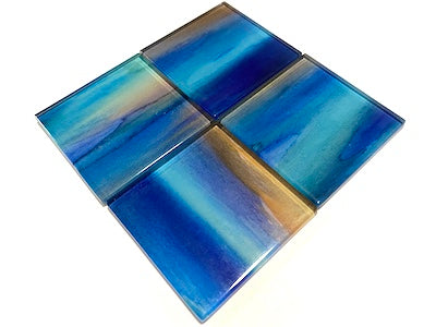 Watercolour Glass Mosaic Tiles 5cm - No. 8 (HM)