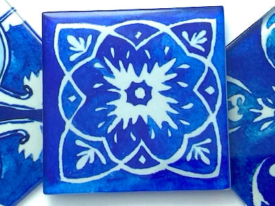 Watercolour Portuguese Glass Tiles 5cm - Pattern 11 (HM)
