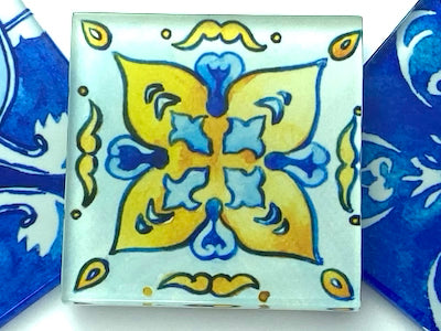 Watercolour Portuguese Glass Tiles 5cm - Pattern 2 (HM)