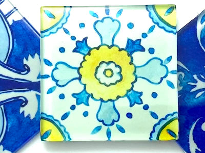 Watercolour Portuguese Glass Tiles 5cm - Pattern 3 (HM)