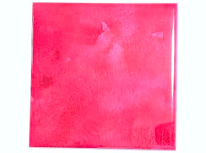 Watercolour Textures 10x10cm Ceramic Tiles - Cerise (HM)