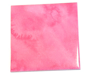 Watercolour Textures 10x10cm Ceramic Tiles - Pink (HM)