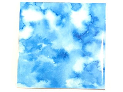Watercolour Textures 10x10cm Ceramic Tiles - Blue Skies (HM)