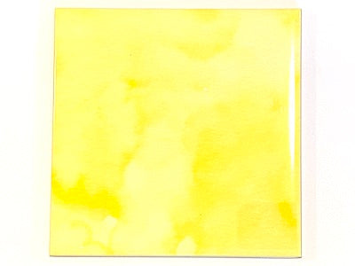 Watercolour Textures 10x10cm Ceramic Tiles - Yellow (HM)