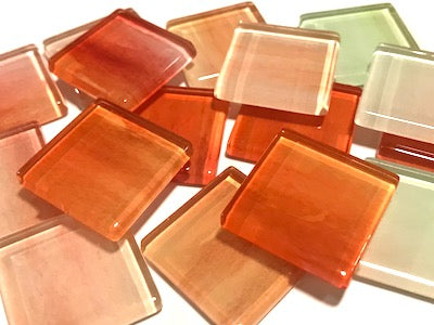 Watercolour Glass Mosaic Tiles 2.5cm - No. 16
