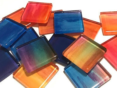 Watercolour Glass Mosaic Tiles 2.5cm - No. 2