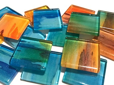 Watercolour Glass Mosaic Tiles 2.5cm - No. 3
