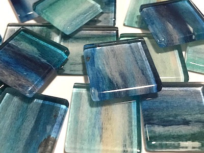 Watercolour Glass Mosaic Tiles 2.5cm - No. 6