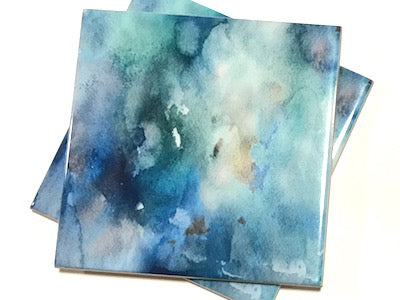 Watercolour Series 10x10cm Ceramic Tiles - No. 14