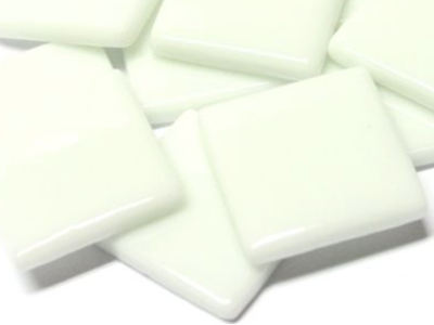 White Gloss Glass Tiles 2.5cm
