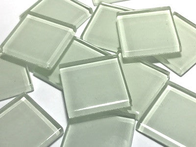 White Glass Mosaic Tiles 2.5cm