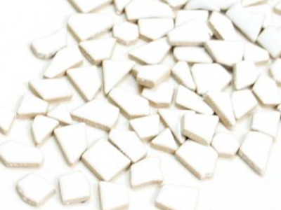 White Ceramic Puzzle Pieces Irregular