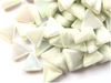 Iridised White Glass Triangles