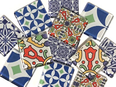 Moroccan Inspired Glass Tiles 2.5cm - Mix 2