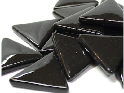 XL Black Glass Triangles