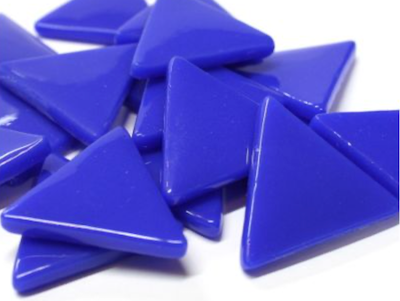 XL Brilliant Blue Glass Triangles