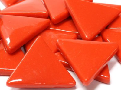 XL Red Glass Triangles