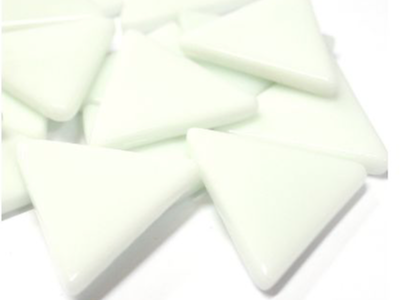 XL White Glass Triangles