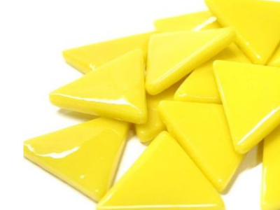 XL Yellow Glass Triangles