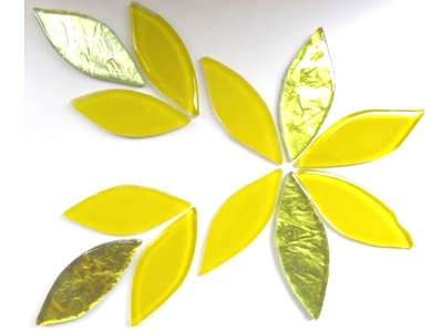 Yellow Mix Glass Petals