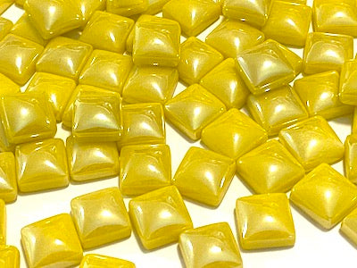 Yellow Pearlised Glass Tiles 1cm