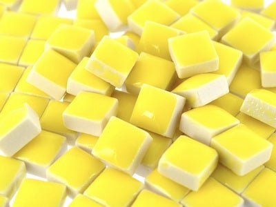 Yellow Square Ceramic Tiles 1cm