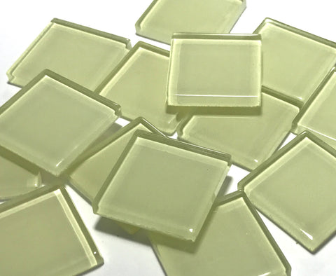 Yellow No. 1 Glass Mosaic Tiles 2.5cm