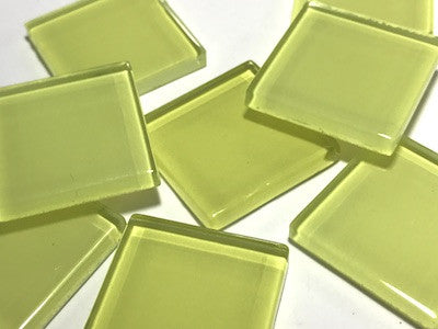 Yellow No. 2 Glass Mosaic Tiles 2.5cm