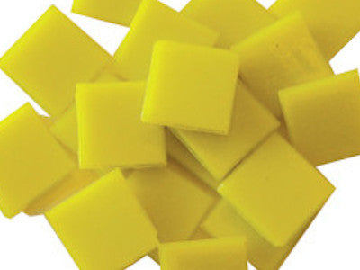 Yellow 2cm Venetian Glass Mosaic Tiles