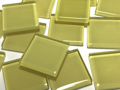 Yellow No. 3 Glass Mosaic Tiles 2.5cm
